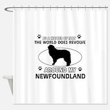 NewFoundland Dog breed designs Shower Curtain