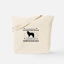 NewFoundland Dog breed designs Tote Bag