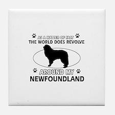 NewFoundland Dog breed designs Tile Coaster