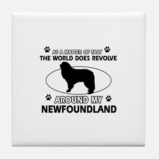 NewFoundland Dog breed designs Tile Coaster