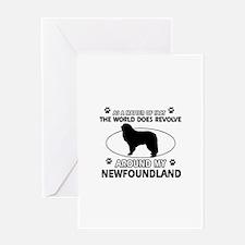 NewFoundland Dog breed designs Greeting Card