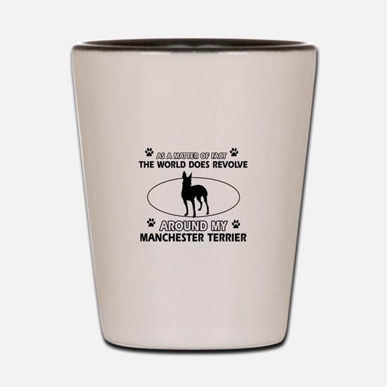 Manchester Terrier Dog breed designs Shot Glass