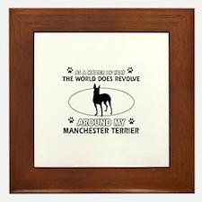 Manchester Terrier Dog breed designs Framed Tile