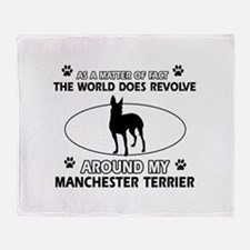 Manchester Terrier Dog breed designs Throw Blanket