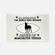 Manchester Terrier Dog breed designs Rectangle Mag