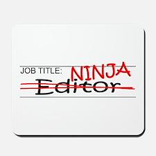 Job Ninja Editor Mousepad