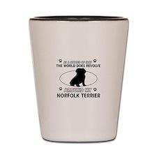 Norfolk Terrier Dog breed designs Shot Glass