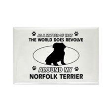 Norfolk Terrier Dog breed designs Rectangle Magnet