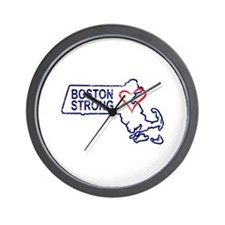 Boston Strong Heart Wall Clock