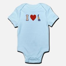 I Love Delaware Infant Bodysuit