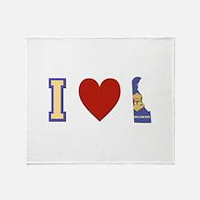 I Love Delaware Throw Blanket