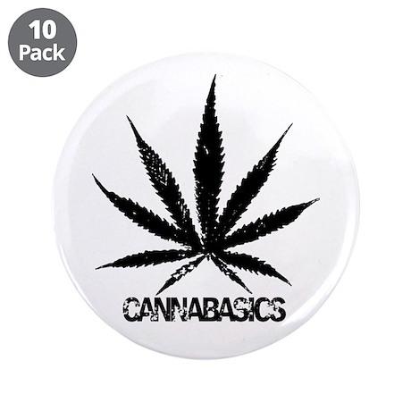 "Cannabasics Original 3.5"" Button (10 pack)"