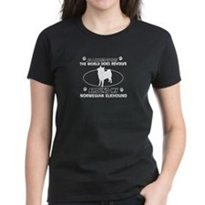 Norwegian Elkhound Dog breed designs Tee
