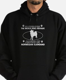 Norwegian Elkhound Dog breed designs Hoodie