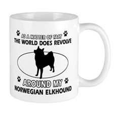 Norwegian Elkhound Dog breed designs Mug
