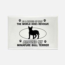 Miniature Bull Terrier Dog breed designs Rectangle