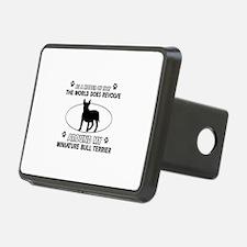 Miniature Bull Terrier Dog breed designs Rectangul