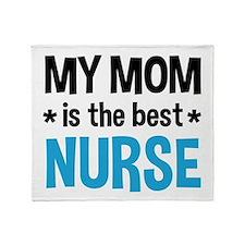Best Nurse Mom Throw Blanket