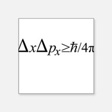 Heisenberg Uncertainty Principle Square Sticker 3""