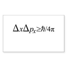 Heisenberg Uncertainty Principle Decal