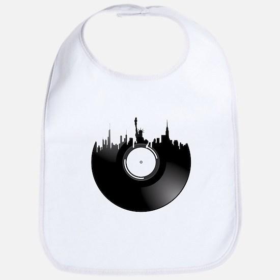 New York City Vinyl Record Bib