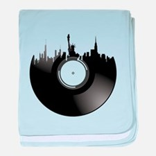 New York City Vinyl Record baby blanket