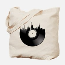 New York City Vinyl Record Tote Bag