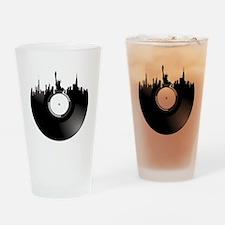 New York City Vinyl Record Drinking Glass
