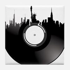 New York City Vinyl Record Tile Coaster