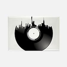 New York City Vinyl Record Rectangle Magnet