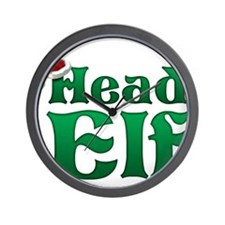 Head Elf Wall Clock