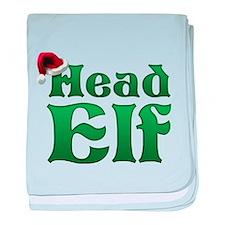 Head Elf baby blanket