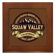 Squaw Valley Sepia Framed Tile