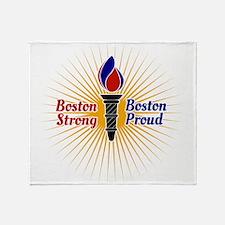 Boston Strong, Boston Proud Torch Throw Blanket