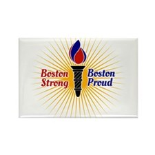 Boston Strong, Boston Proud Torch Rectangle Magnet