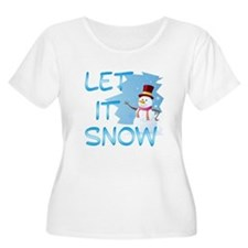 Let It Snow Plus Size T-Shirt