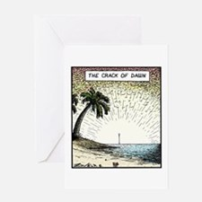The crack of Dawn Greeting Card