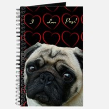Cute I Love Pugs Journal
