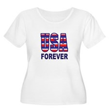 USA FOREVER Plus Size T-Shirt