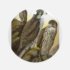 Falcon Watching Ornament (Round)
