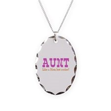 Aunt Like a Mom but Cooler Necklace Oval Charm