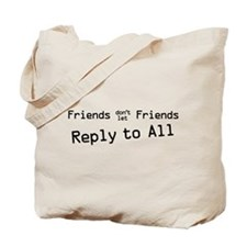Reply to All B on W Tote Bag