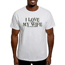 I love my wife fishing funny T-Shirt