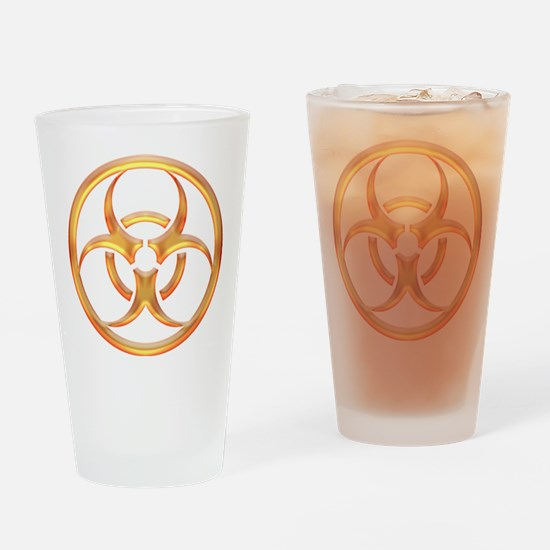 Biohazard Gold Drinking Glass