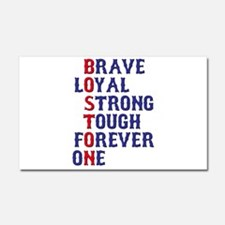 Boston Meaning Car Magnet 20 x 12