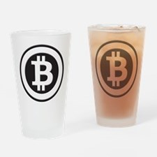 Bitcoin Drinking Glass