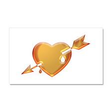Heart and Arrow Car Magnet 20 x 12