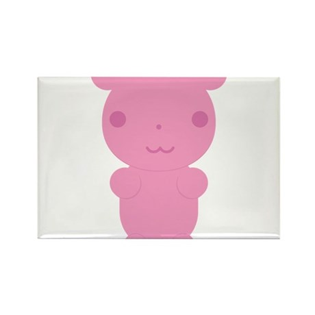 Gummi Bear - Pink Rectangle Magnet (10 pack)