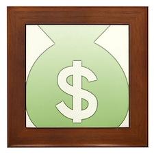 Money Bag Framed Tile