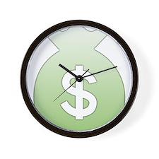 Money Bag Wall Clock